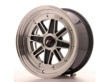 JR-Wheels JR31 Wheels Gloss Black Machined 15 Inch 7,5J ET20 4H Blank-63310