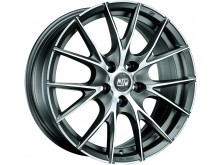 MSW MSW 25 Wheels Flat Titanium Machined 17 Inch 8J ET35 5x100-74080