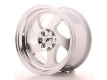 JR-Wheels JR15 Wheels Silver Machined 15 Inch 8J ET20 4x100/108-56154-1