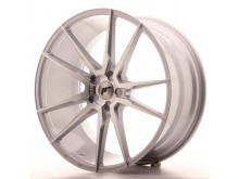 JR-Wheels JR21 Wheels Silver Machined 22 Inch 10.5J ET15-50 5H Blank-61550