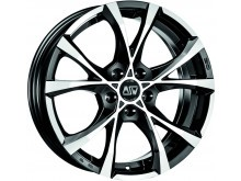 MSW Cross Over Wheels Black Machined 17 Inch 7,5J ET45 5x120-69584